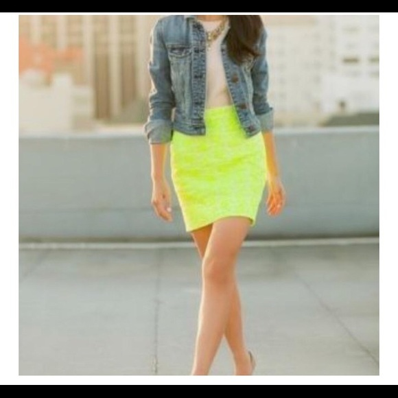 J. Crew Dresses & Skirts - J Crew Postage Stamp Neon Mini Skirt